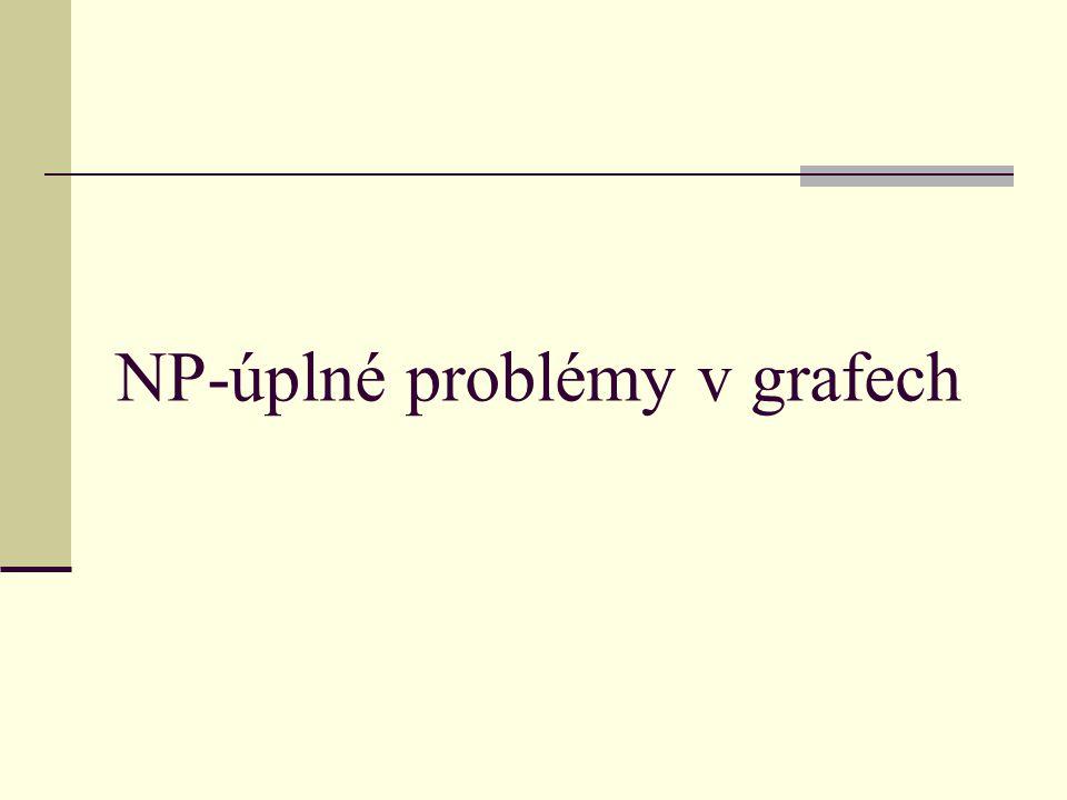 NP-úplné problémy v grafech