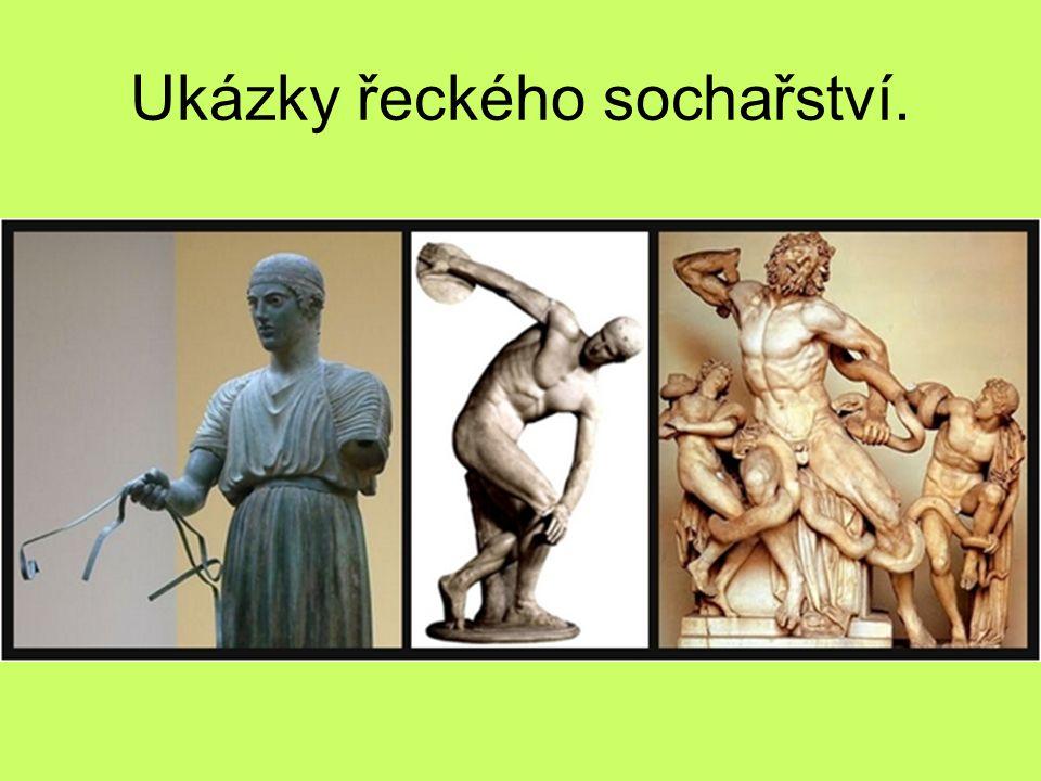 Ukázky řeckého sochařství.