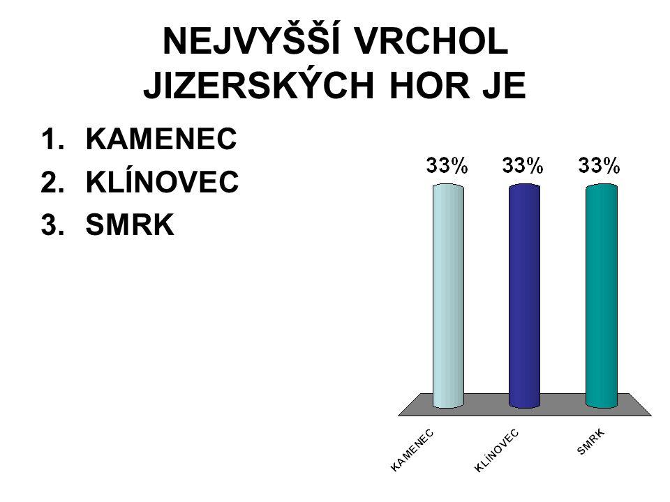 NEJVYŠŠÍ VRCHOL ČESKÉHO LESA JE 1.ČERCHOV 2.ČECHROV 3.PLECHÝ