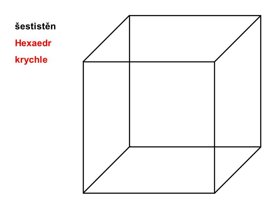 šestistěn Hexaedr krychle