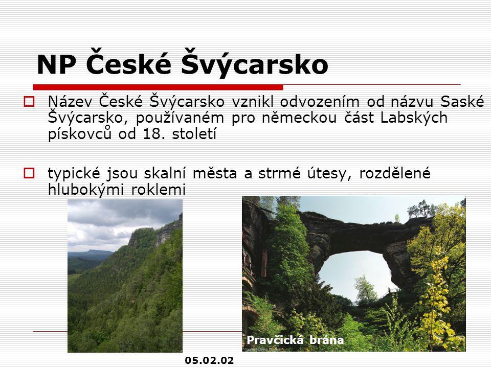 NP České Švýcarsko  Název České Švýcarsko vznikl odvozením od názvu Saské Švýcarsko, používaném pro německou část Labských pískovců od 18. století 