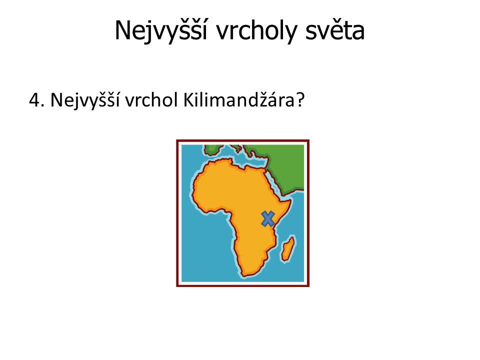 Odpověď: Uhuru 5896 m.