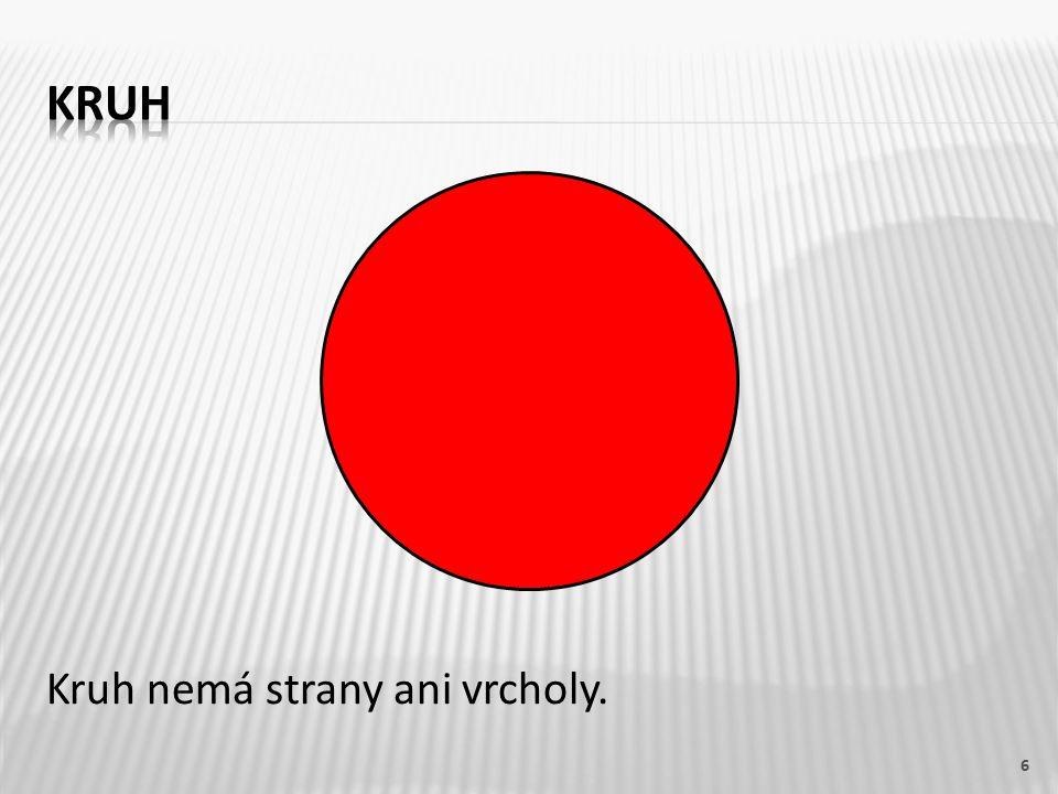 Kruh nemá strany ani vrcholy. 6