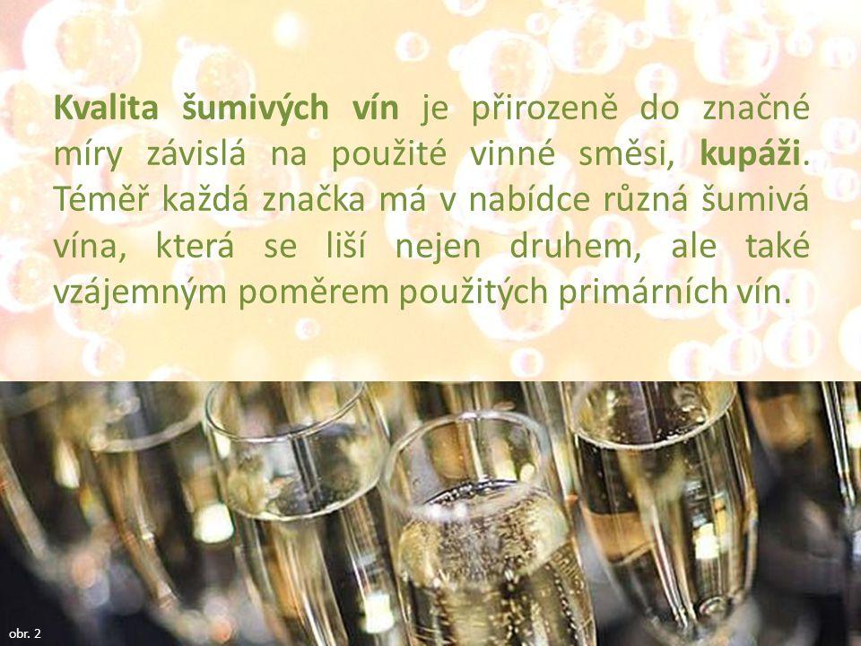 Kvalita šumivých vín je přirozeně do značné míry závislá na použité vinné směsi, kupáži.