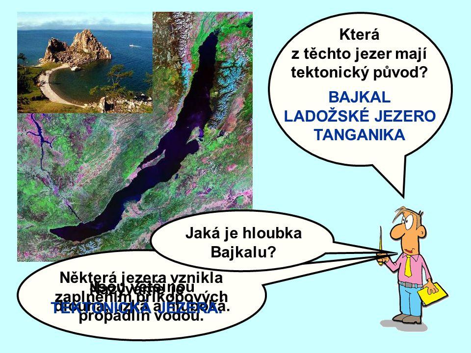 Slaná jezera jsou zbytky pravěkých moří.Příkladem jsou jezera, ležící na: 42° s.š., 50° v.d.