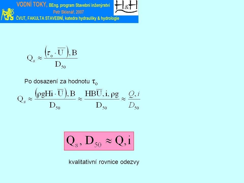 Po dosazení za hodnotu τ o kvalitativní rovnice odezvy