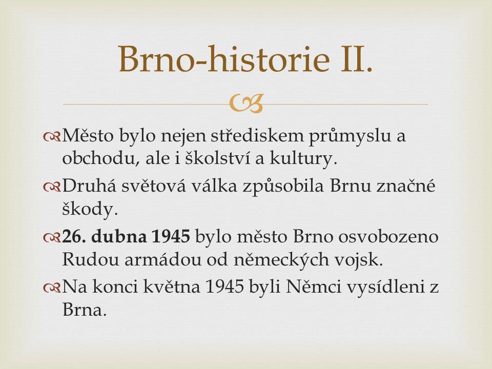  Vysídlení Němců z Brna Brno-historie II.