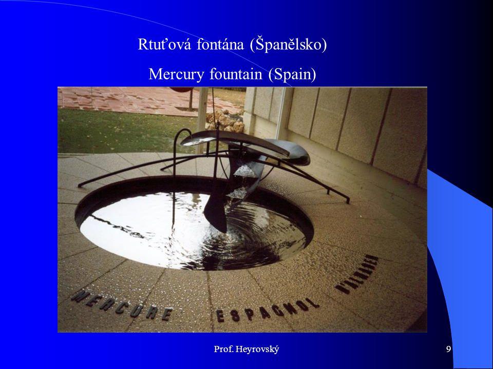Rtuťová fontána (Španělsko) Mercury fountain (Spain) Prof. Heyrovský9
