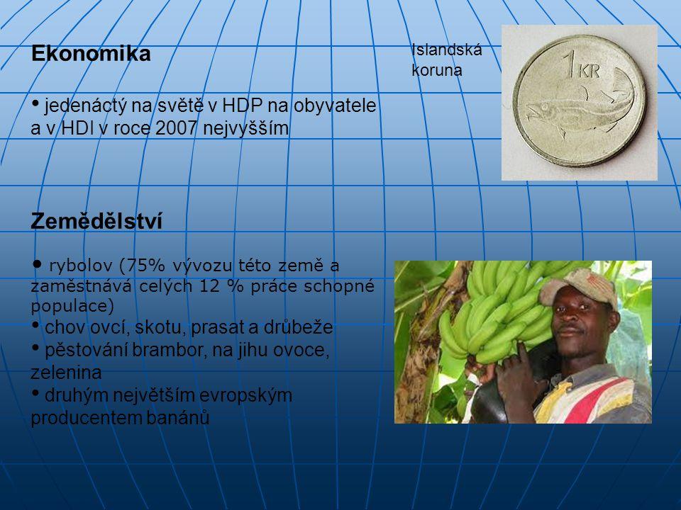 Ekonomika jedenáctý na světě v HDP na obyvatele a v HDI v roce 2007 nejvyšším Zemědělství rybolov (75% vývozu této země a zaměstnává celých 12 % práce