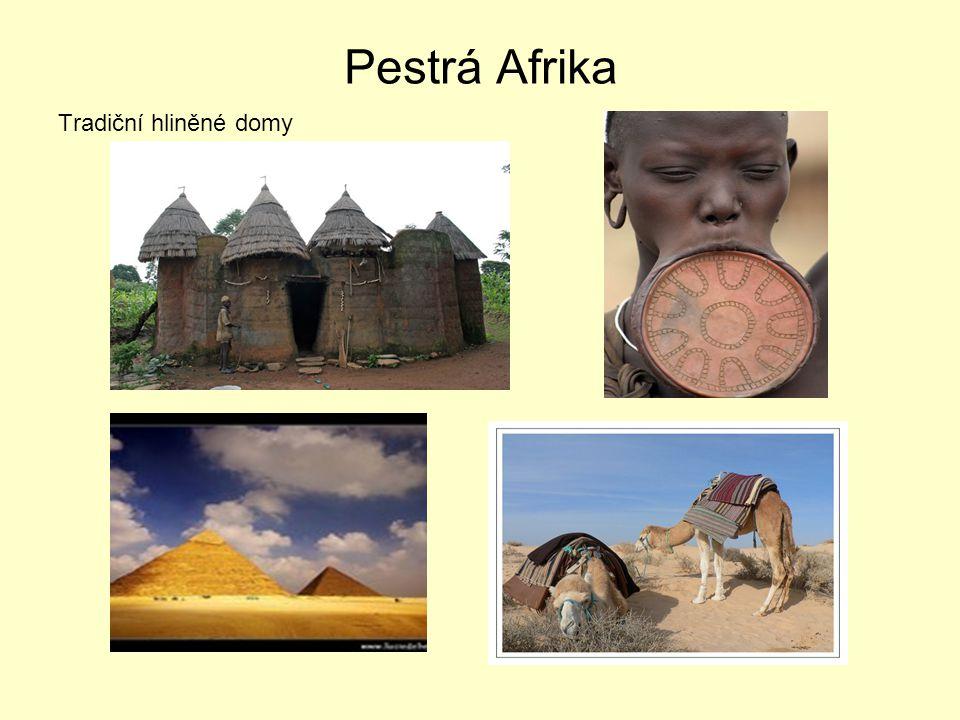 Pestrá Afrika Tradiční hliněné domy