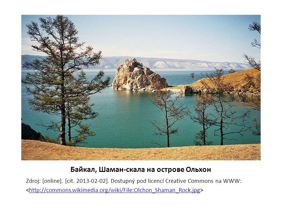 Байкал, Шаман-скала на острове Ольхон Zdroj: [online].