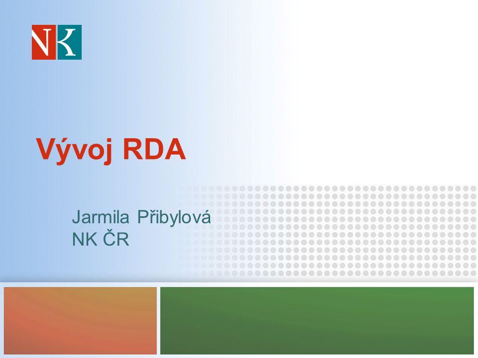 Vývoj RDA Jarmila Přibylová NK ČR