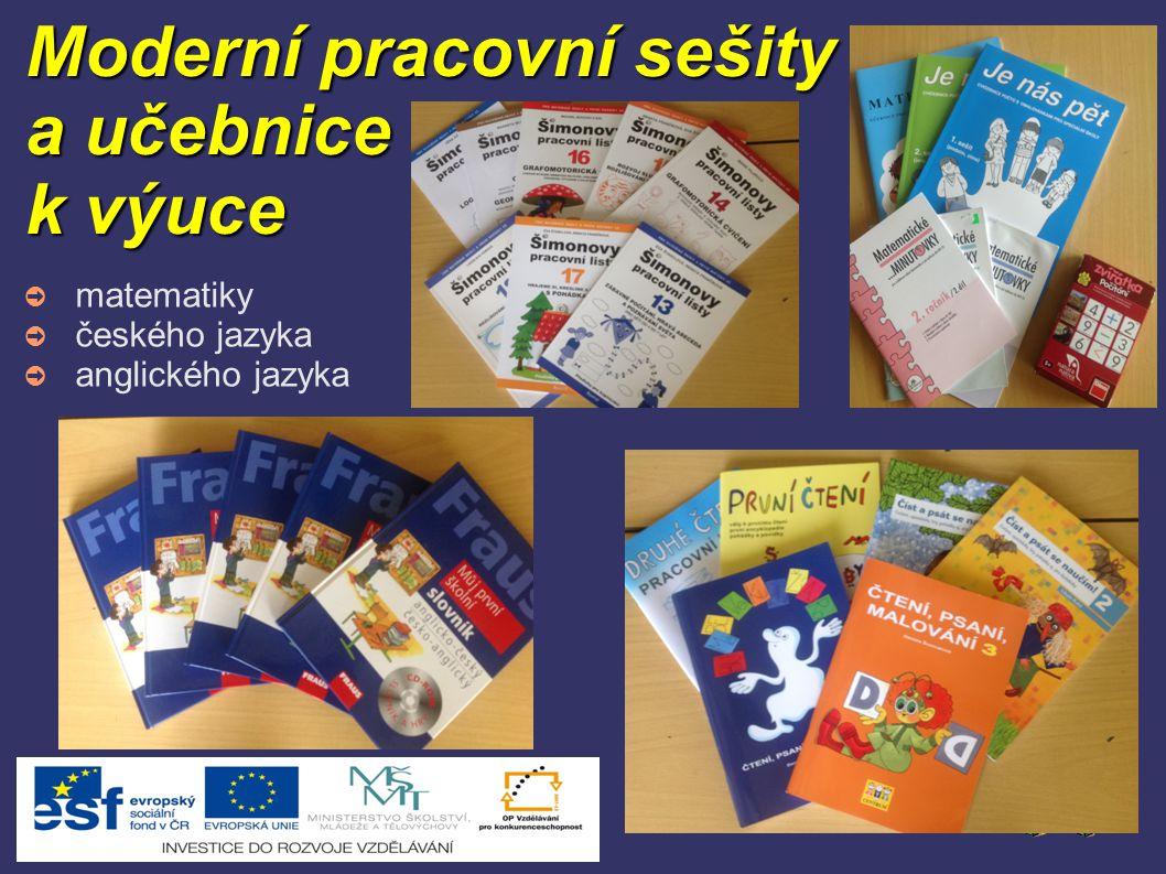 Moderní pracovní sešity a učebnice k výuce ➲ matematiky ➲ českého jazyka ➲ anglického jazyka