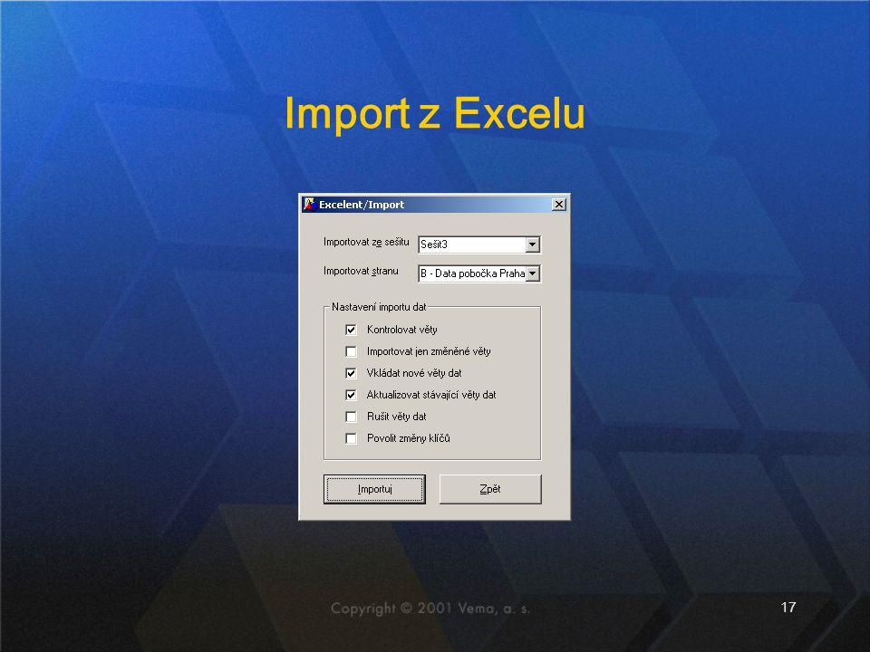 17 Import z Excelu