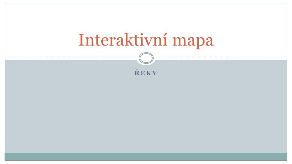 ŘEKY Interaktivní mapa