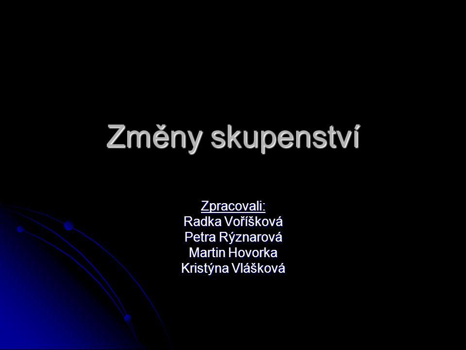 Změny skupenství Zpracovali: Radka Voříšková Petra Rýznarová Martin Hovorka Kristýna Vlášková