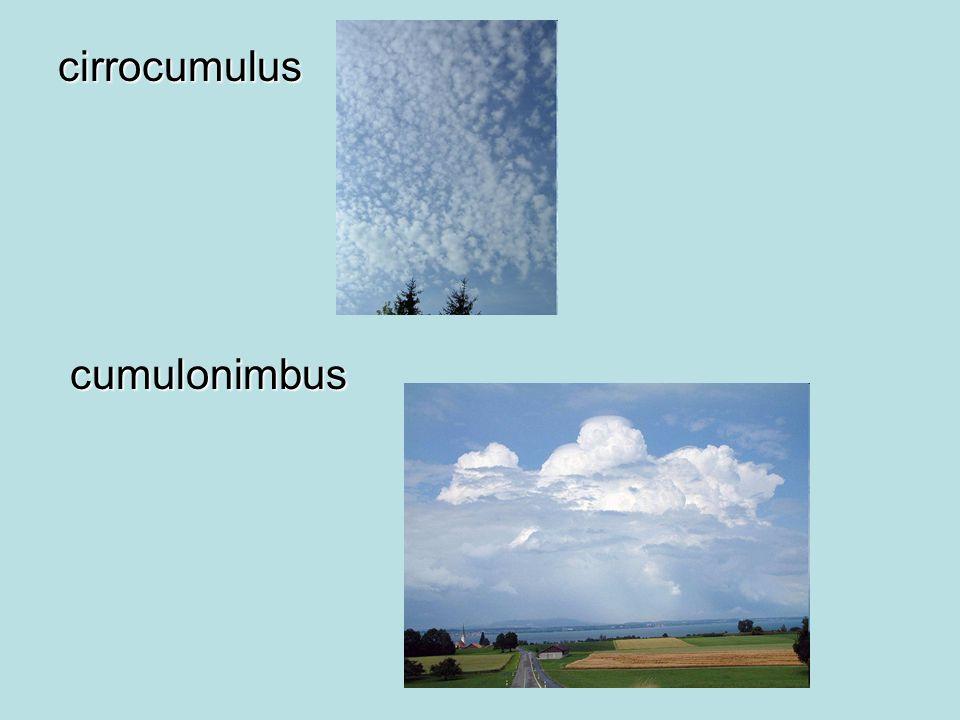 cirrocumulus cumulonimbus
