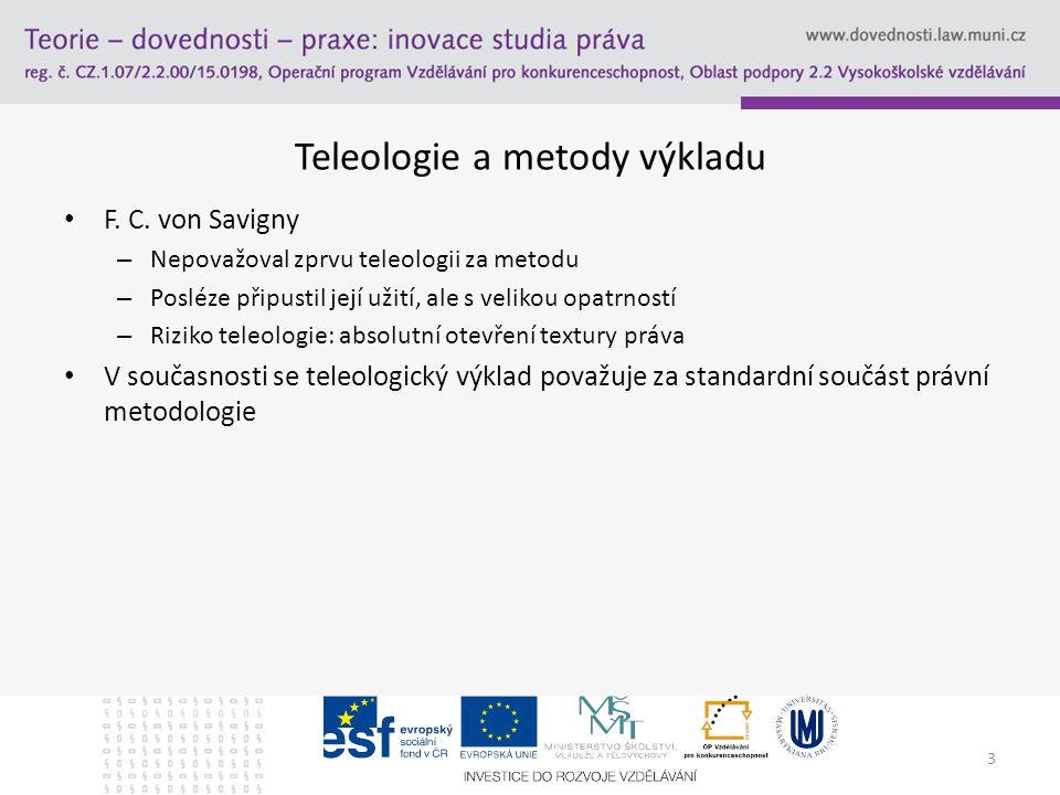 3 Teleologie a metody výkladu F.C.