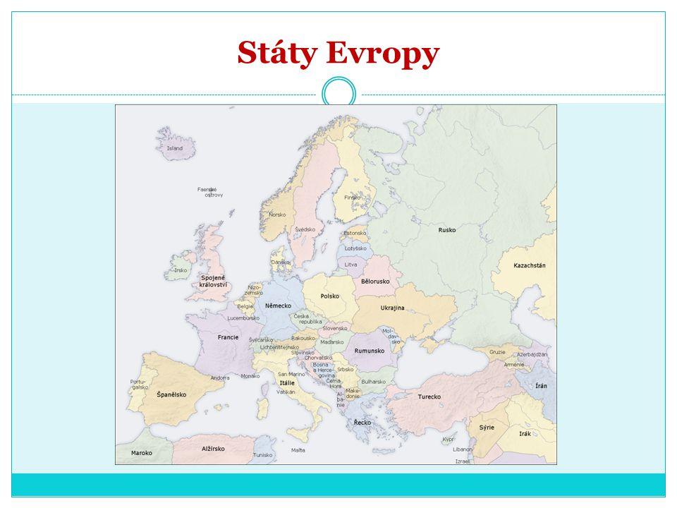 Hledej na mapě Na Evropském kontinentu a k němu náležících ostrovech se nachází území 46 nezávislých států.