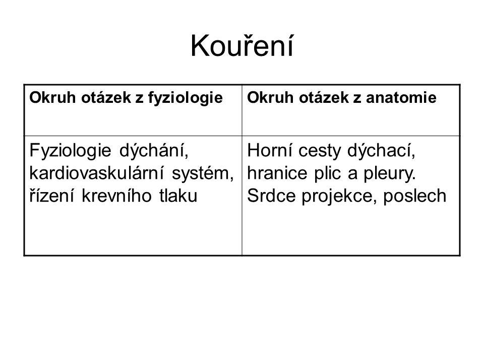 Nedostatek pohybu Okruh otázek z fyziologieOkruh otázek z anatomie Fyziologie kostí a svalů, význam vápníku v těle, řízení kalcémie Pohybový systém.