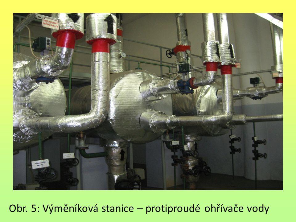 Obr. 5: Výměníková stanice – protiproudé ohřívače vody