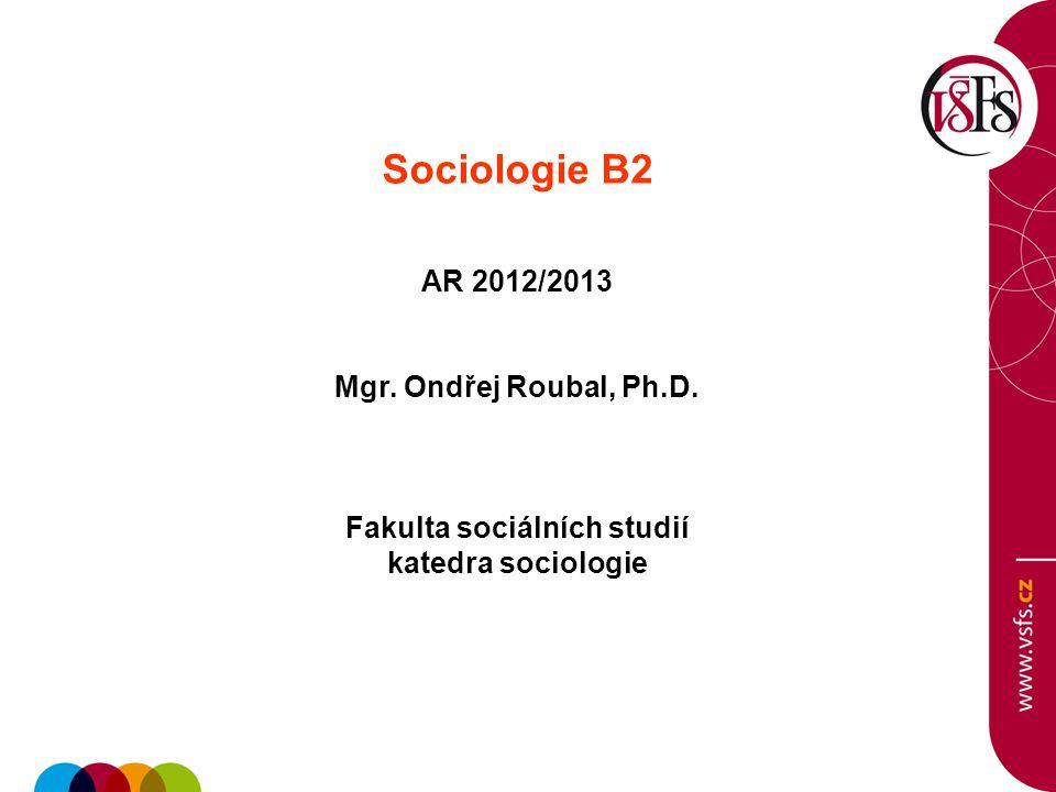 Sociologie B2 - cvičení