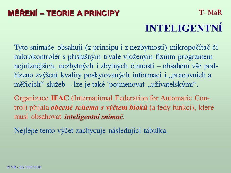 T- MaR MĚŘENÍ – TEORIE A PRINCIPY © VR - ZS 2009/2010 Navrhování – ukázka LabView od firmy NI – bloky systému Celý systém – grafické vývojové prostředí s funk- čními bloky