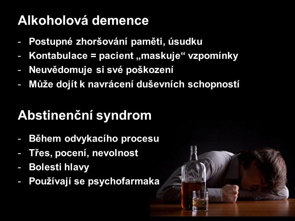 ONEMOCNĚNÍ -Žaludeční vředy -Epileptické záchvaty -Cirhóza nebo rakovina jater -Selhání ledvin -Zánět nebo rakovina slinivky břišní -Vysoký krevní tlak -Srdeční choroby