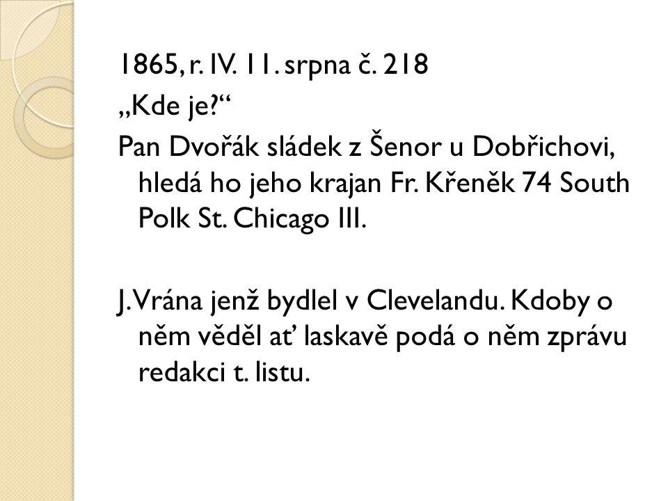 1865, r. IV. 11. srpna č.