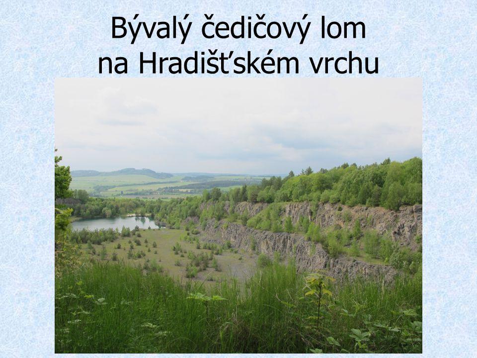Bývalý čedičový lom na Hradišťském vrchu