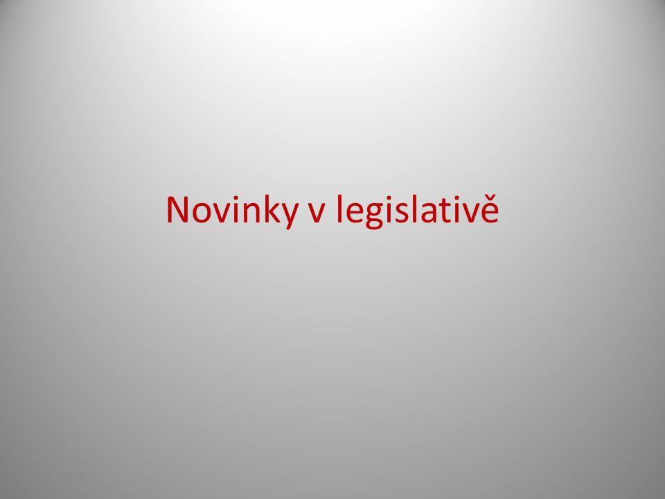 Novinky v legislativě 21.4.2015