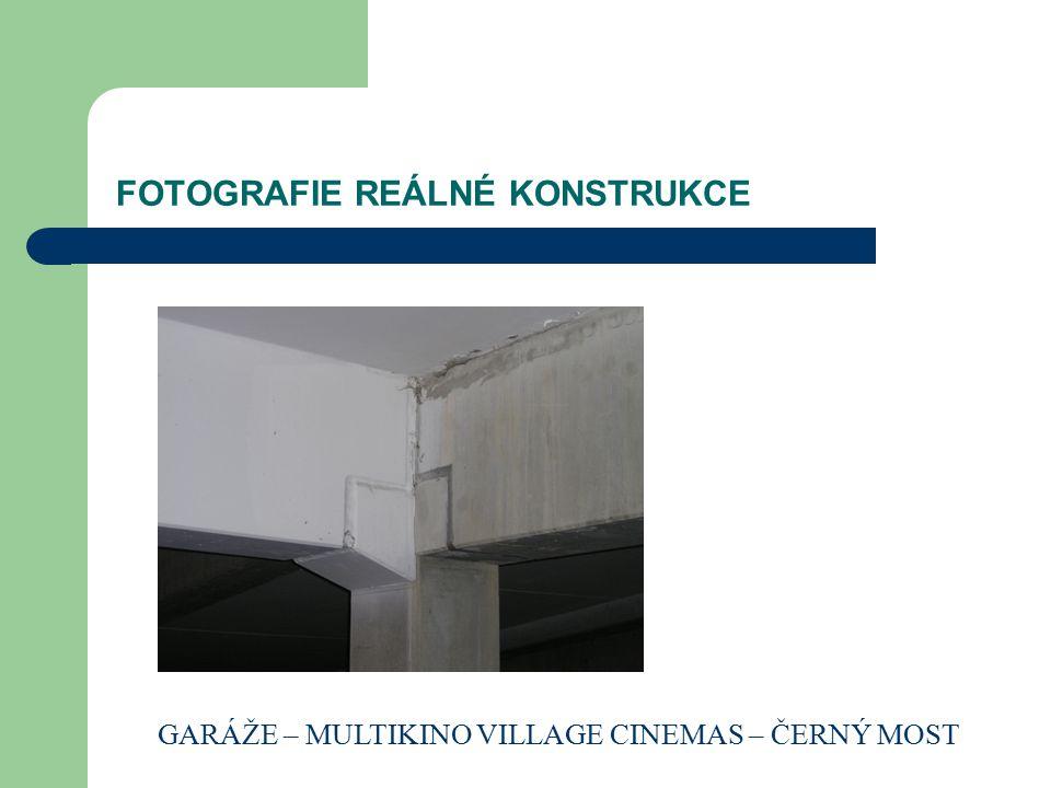 FOTOGRAFIE REÁLNÉ KONSTRUKCE GARÁŽE – MULTIKINO VILLAGE CINEMAS – ČERNÝ MOST