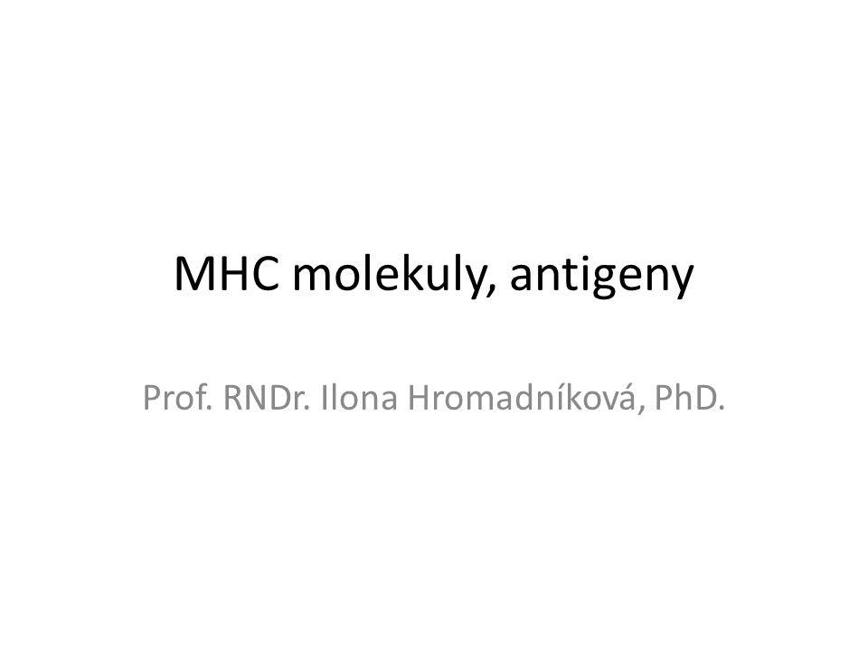 MHC molekuly, antigeny Prof. RNDr. Ilona Hromadníková, PhD.