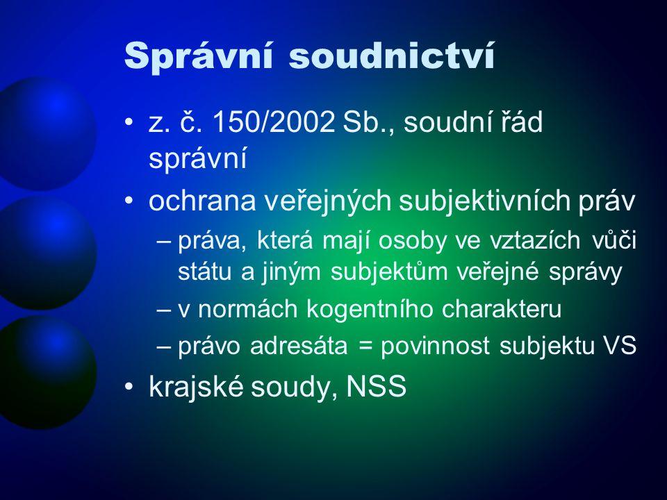 Správní soudnictví z. č.