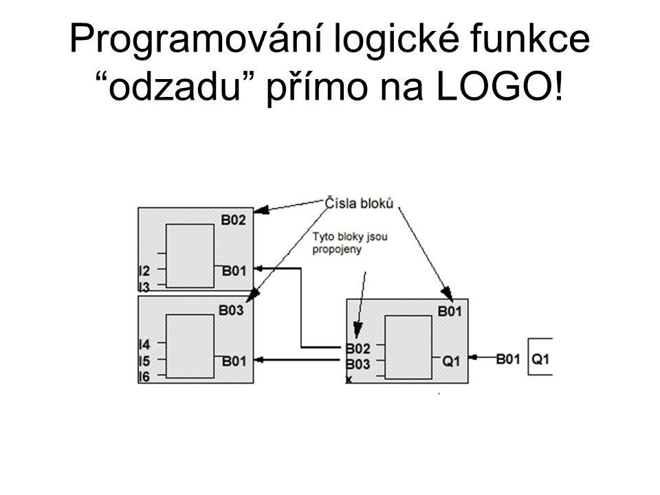 Programování logické funkce odzadu přímo na LOGO!