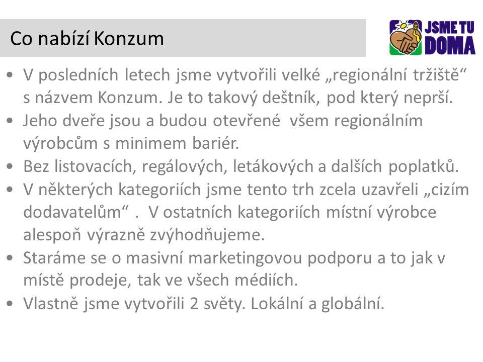 """V posledních letech jsme vytvořili velké """"regionální tržiště s názvem Konzum."""