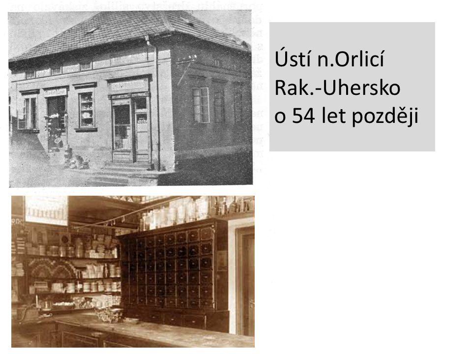 Ústí n.Orlicí Rak.-Uhersko o 54 let později