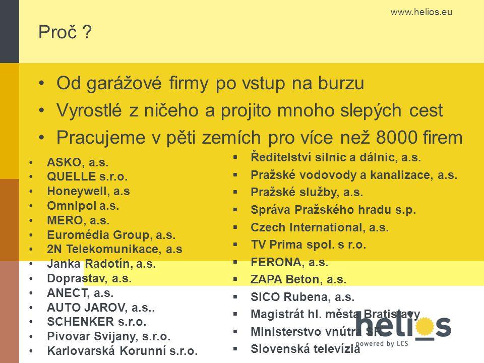 www.helios.eu Proč .