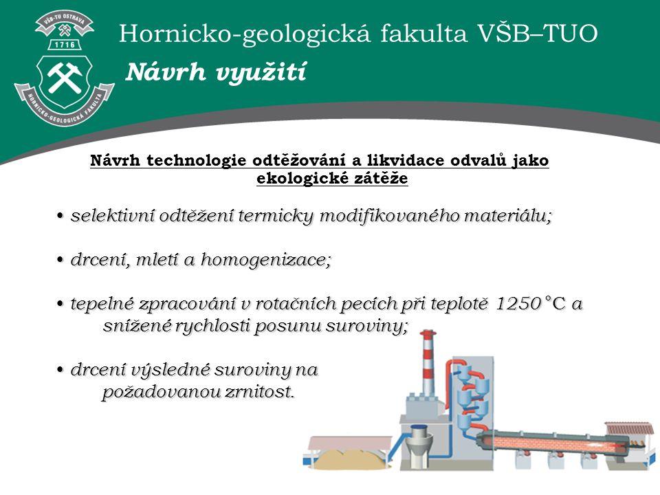 Hornicko-geologická fakulta VŠB–TUO selektivní odtěžení termicky modifikovaného materiálu; selektivní odtěžení termicky modifikovaného materiálu; drce