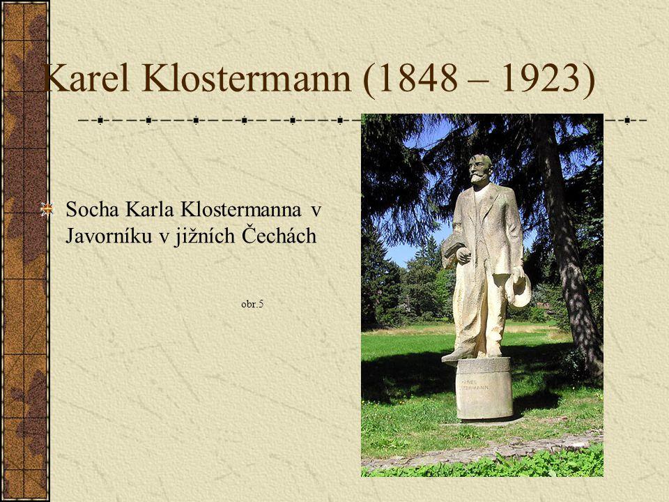 Karel Klostermann (1848 – 1923) Socha Karla Klostermanna v Javorníku v jižních Čechách obr.5