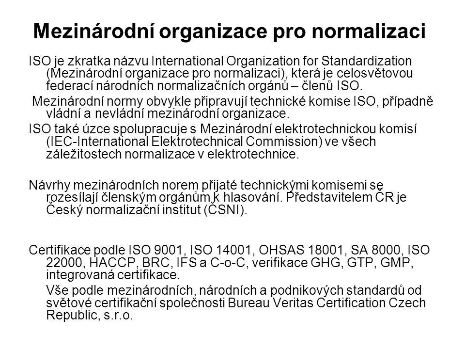 Mezinárodní organizace pro normalizaci ISO je zkratka názvu International Organization for Standardization (Mezinárodní organizace pro normalizaci), která je celosvětovou federací národních normalizačních orgánů – členů ISO.