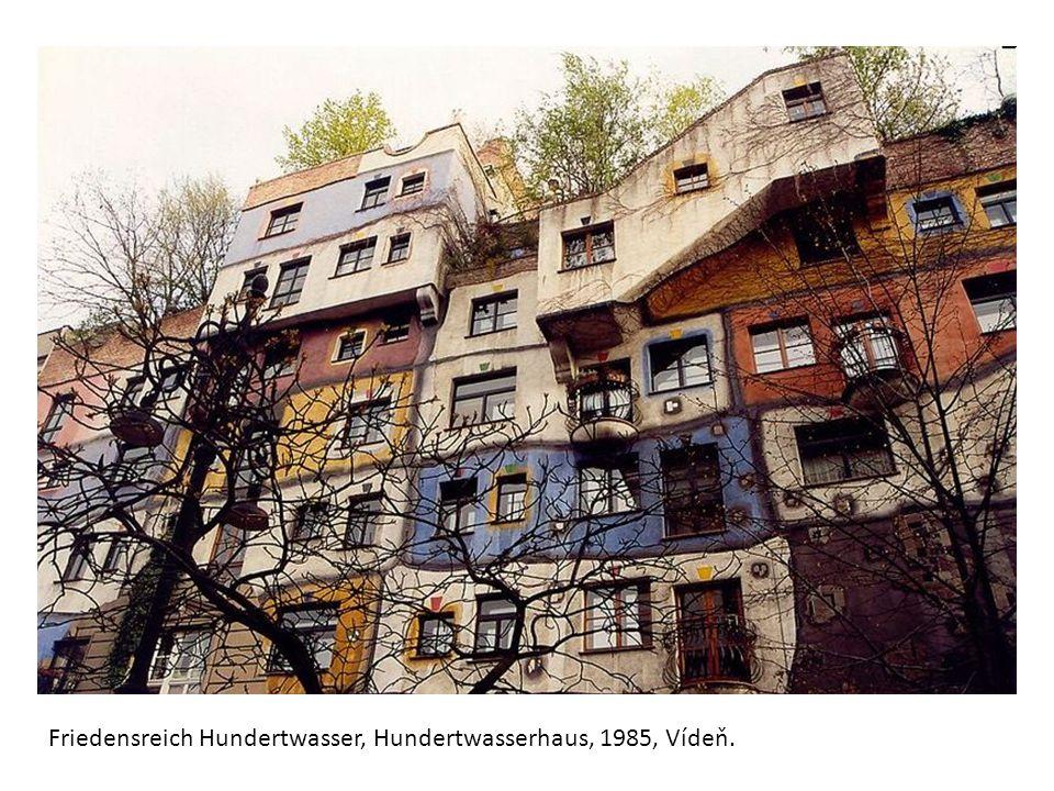 Friedensreich Hundertwasser, Hundertwasserhaus, 1985, Vídeň.
