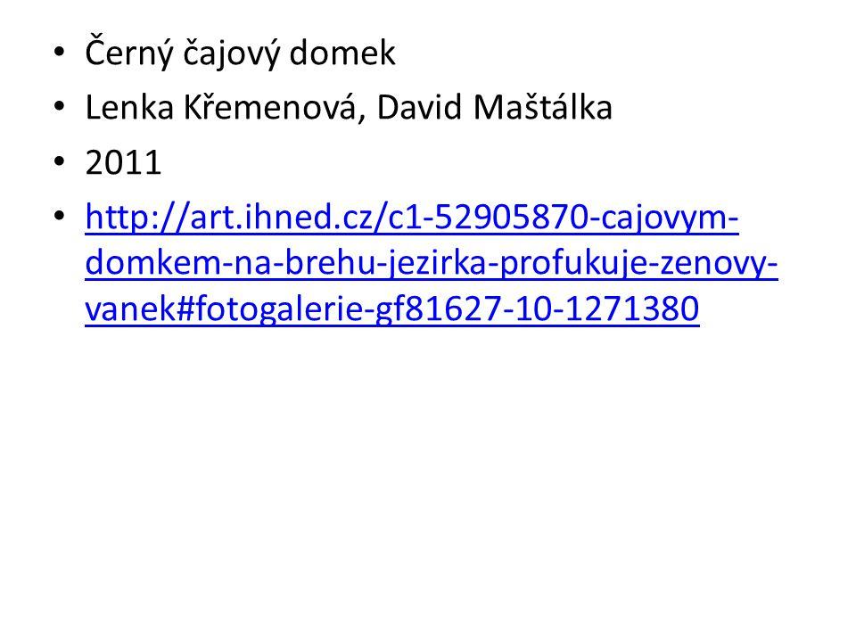 Černý čajový domek Lenka Křemenová, David Maštálka 2011 http://art.ihned.cz/c1-52905870-cajovym- domkem-na-brehu-jezirka-profukuje-zenovy- vanek#fotog