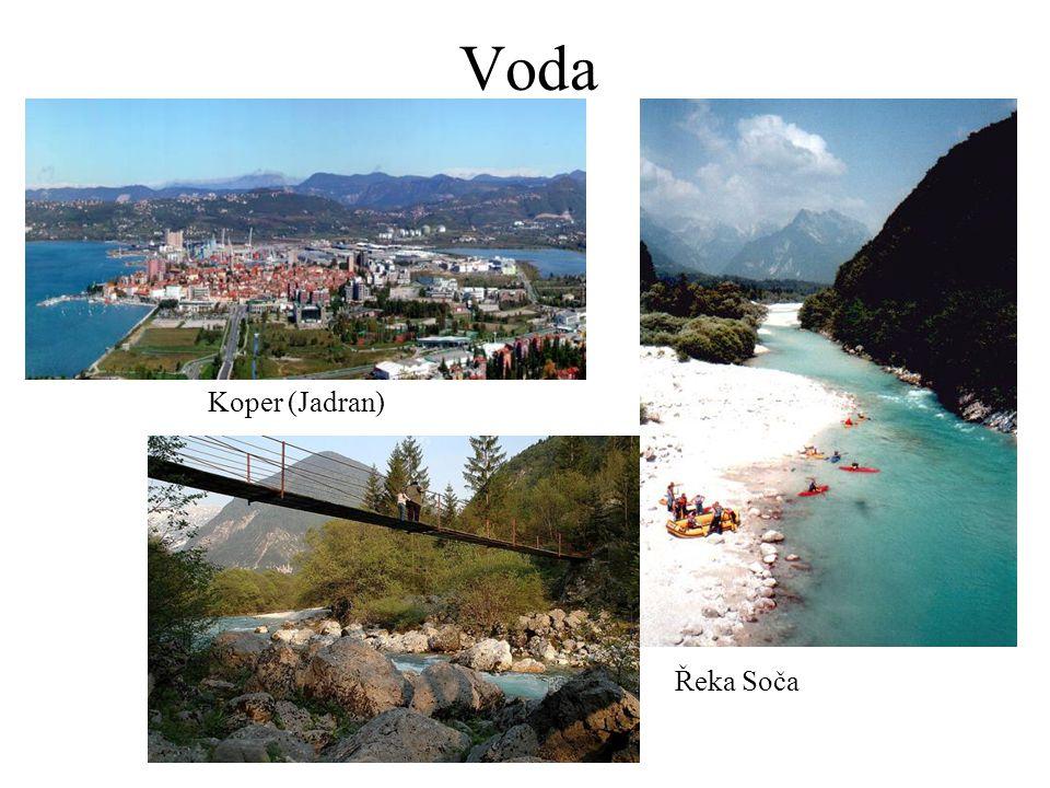 Voda Koper (Jadran) Řeka Soča