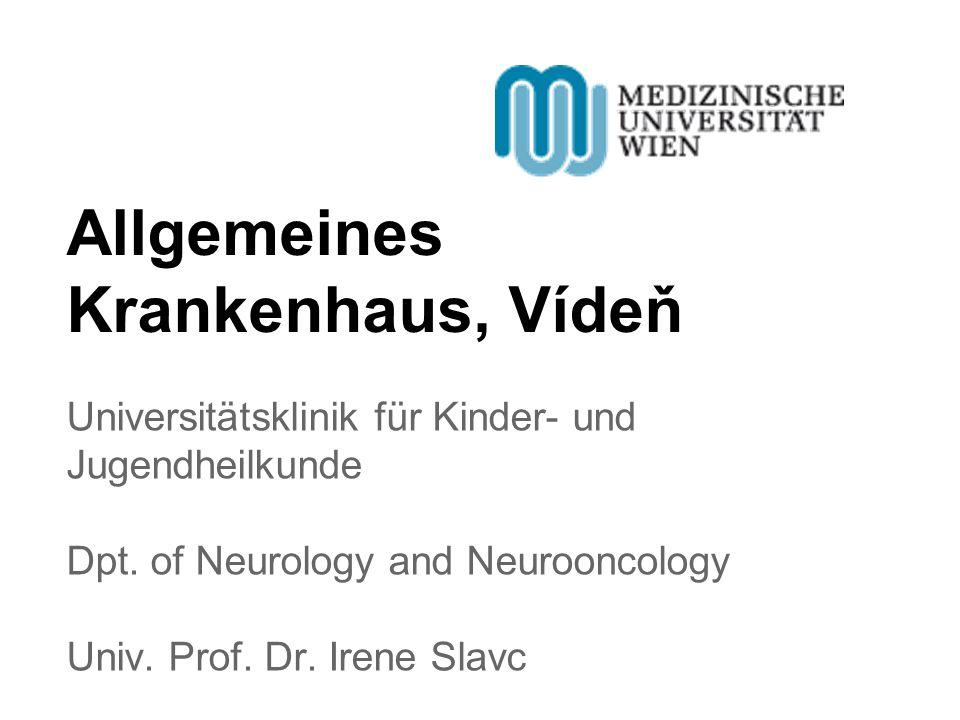 Allgemeines Krankenhaus, Vídeň Universitätsklinik für Kinder- und Jugendheilkunde Dpt.