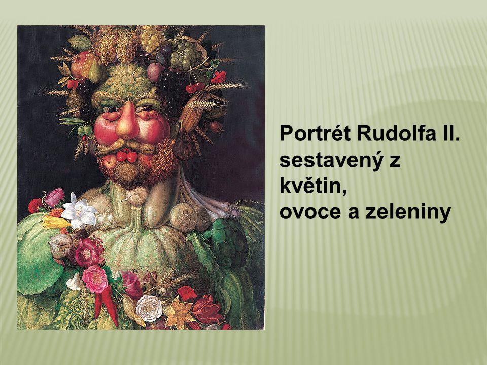 Portrét Rudolfa II. sestavený z květin, ovoce a zeleniny