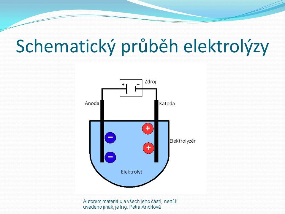 Schematický průběh elektrolýzy Autorem materiálu a všech jeho částí, není-li uvedeno jinak, je Ing. Petra Andrlová