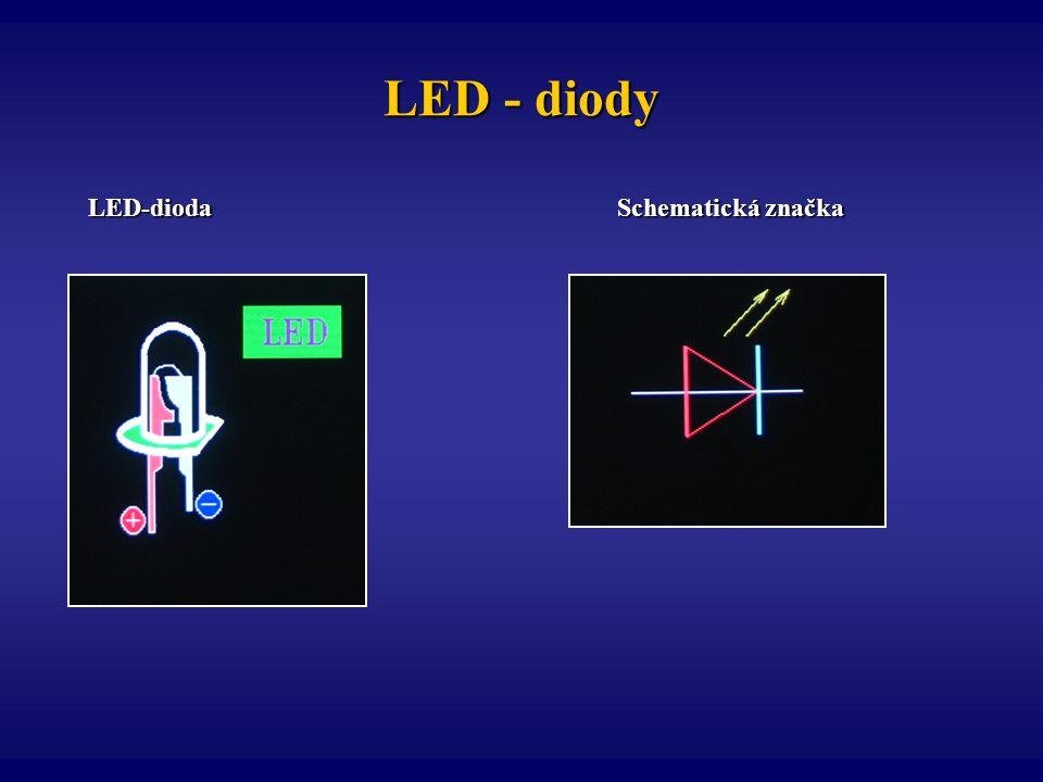 LED - diody LED-dioda Schematická značka