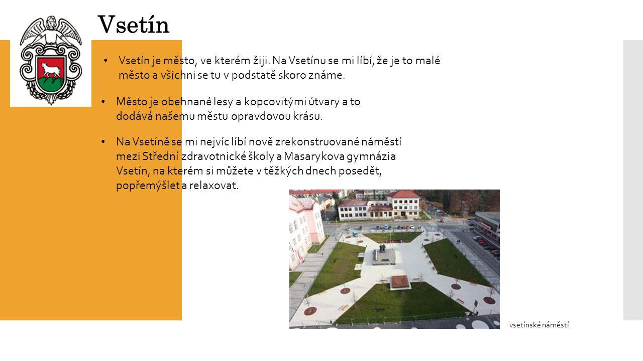 Vsetín Vsetín je město, ve kterém žiji.