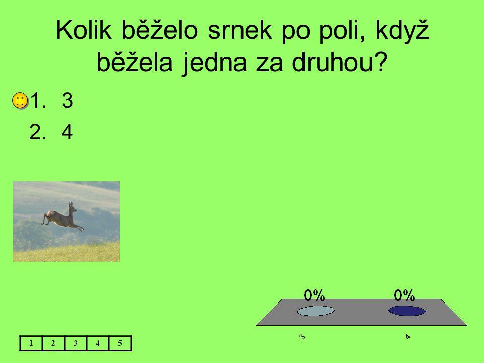 Kolik běželo srnek po poli, když běžela jedna za druhou? 12345 1.3 2.4